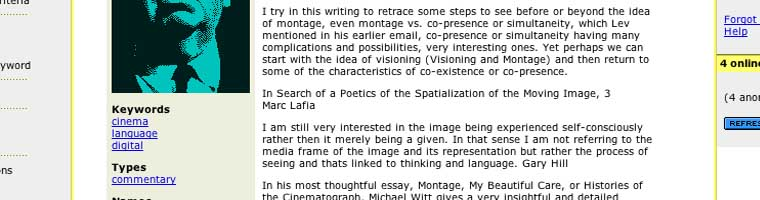 In Search of a Poetics of the Moving Image